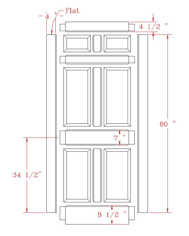 Standard door dimensions for Dimension portillon standard