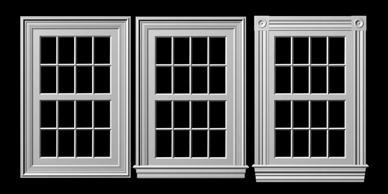 garage window treatment ideas - Decorating Colonial Window Trim Inspiring s